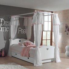 Himmelbett Amori mit Bettschublade und Textil-Vorhang, 90 x 200 cm