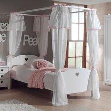 Himmelbett Amori mit Textil-Vorhang, 90 x 200 cm