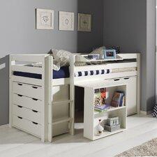 Spielbett Pino mit Schreibtisch, Schubladenkommde und Kommode, 90 x 200 cm