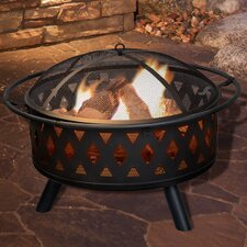 Crossweave Steel Wood Fire Pit