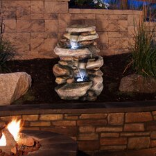 Polyresin Stone Waterfall Fountain with Light