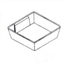 """Clipper Specialty Shelving - Plastic Bins For Drawers with 3"""" Drawer Fronts (Set of 3)"""