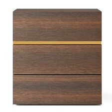 People 3 Drawer Nightstand