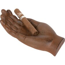 Novelty Metal Hand Shaped Cigar Holder and Ash Tray
