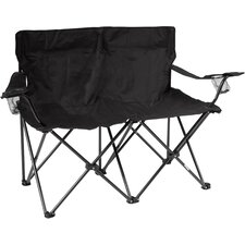 Loveseat Style Double Camp Chair with Steel Frame