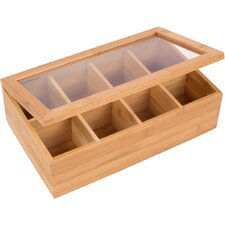 Bamboo 8-Section Tea Storage Box