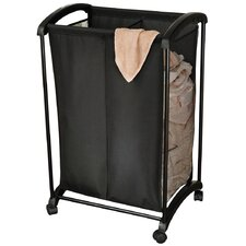 2-Section Rolling Laundry Sorter