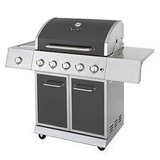 5-Burner 60,000 BTU Propane Gas Grill with Side Burner and Full Storage Cart