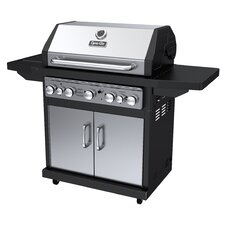 79,000 BTU 5-Burner Propane Gas Grill with Side Burner and Rotisserie Burner