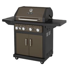 4 Burner Gas Grill with Side Burner and Electric Pulse Ignition