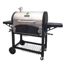Dual Chamber Charcoal Grill with Adjustable Charcoal Trays