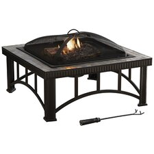 Hampton Natural Slate Wood Burning Fire Pit in Rubbed Bronze