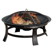 Brant Wood Burning Circular Fire Pit in Rubbed Bronze