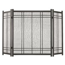 Preston 3 Panel Steel Fireplace Screen