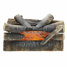 Electric Crackling Natural Wood Log Fire