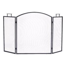 Classic 3 Panel Steel Fireplace Screen