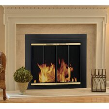 Arrington Fireplace Screen and Bi-Fold Track-Free Glass Door