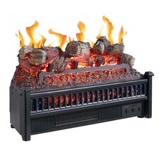 Electric Fireplace Log Heater