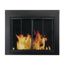 Ascot Fireplace Screen and Bi-Fold Track-Free Glass Door