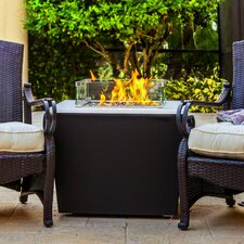 Phoenix Metal/Quartz Gas Table Top Fireplace