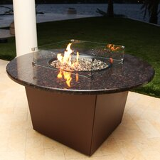 Alfresco Riviera Metal/Granite Gas Table Top Fireplace