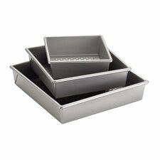 Professional 3 Piece Square Cake Pan Set