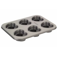 Novelty 6 Cup Heart Cakelette Pan
