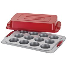 Deluxe 12 Cup Nonstick Covered Muffin Pan