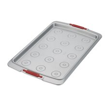 "Deluxe 15"" x 10"" Nonstick Bakeware Cookie Pan with Drop Zones"