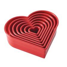 7 Piece Heart Fondant and Cookie Cutter Set
