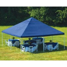"20' x 20' Decorative 8 Leg Canopy 2"" Frame with Blue Cover"