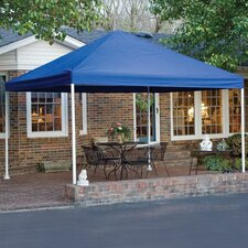 "12' x 12' Decorative 4 Leg Canopy 2"" Frame with Blue Cover"