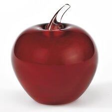 "Murano Style Artistic Glass 3.5"" Apple Figurine"
