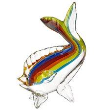 "Rainbow Art 9"" Glass Fish Figurine"