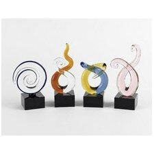 4 Piece Mini Swirl Centerpiece Sculpture