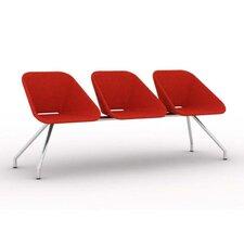 Red Three Seat Bench