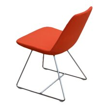 Pera Wire Base Wool Side Chair