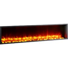 "63"" Built-in LED Wall Mount Electric Fireplace Insert"