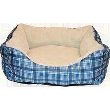 Plush Box Bolster Dog Bed