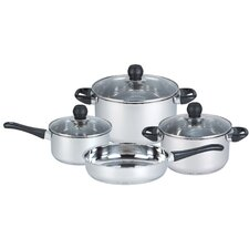 7-Piece Non-Stick Stainless Steel Cookware Set