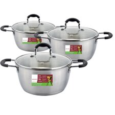 6-Piece Stainless Steel Cookware Set