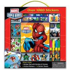 Marvel Heroes Sticker Box with Handle