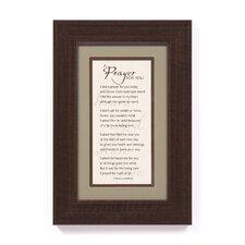 I Said a Prayer by Frank J. Zamboni Framed Textual Art