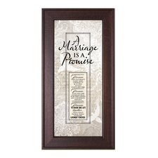 Marriage Promise Framed Graphic Art