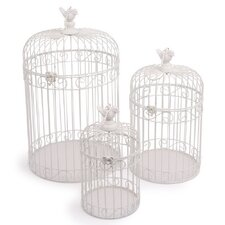 3-Pice Decorative Birdcage Set