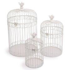 3-tlg. Deko-Vogelkäfig Set