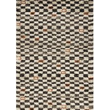 Maroq Cream/Black Tribal Checkers Area Rug