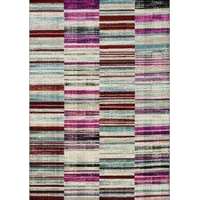 Villa Barcode Floor Cloth Beige Area Rug