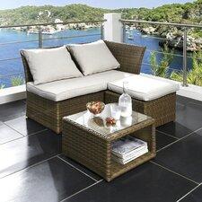 3-tlg. Balkonmöbel-Set Loft mit Kissen