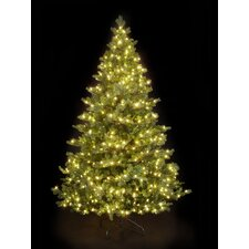 Snowtime 6.6' Green Pre-Lit Alaskan Spruce Artificial Christmas Tree with 350 Warm White LEDs